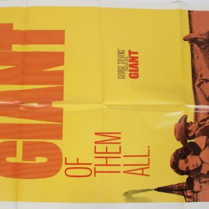 The Giant of Them All Movie Poster R-70/293 Dean, Taylor and Hudson