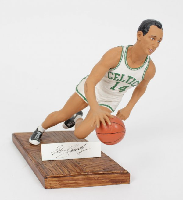 "Boston Celtics Bob Cousy Signed Limited Edition ""Smooth Operator"" Figurine #266/950"