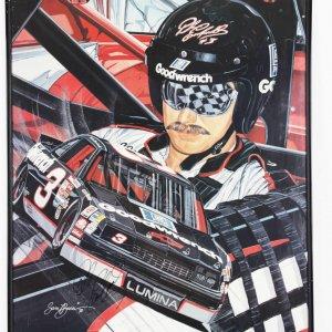 NASCAR Dale Earnhardt Sr Signed Litho