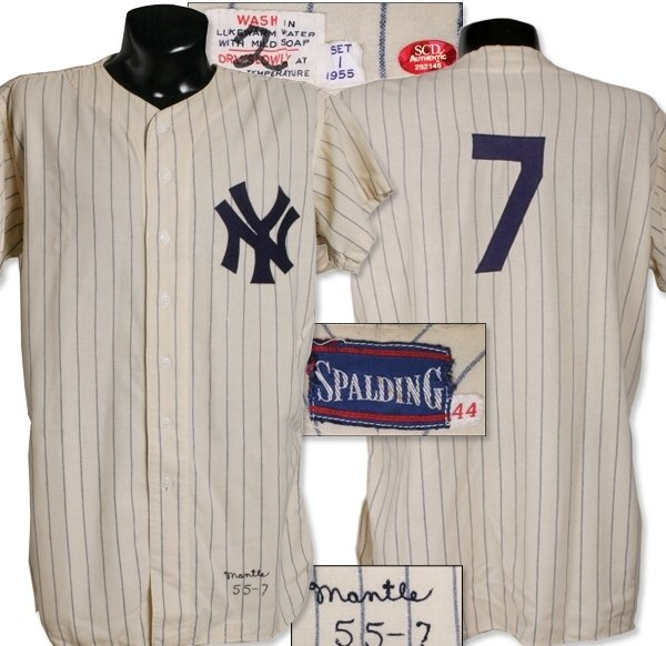 mickey mantle game worn jersey