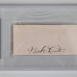 babe ruth signed cut