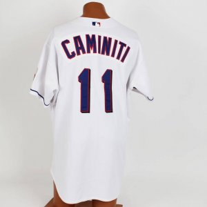 2001 Texas Rangers - Ken Caminiti Game-Worn Jersey (feat. 100th Anniversary of AL Patch)