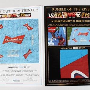Rumble on the River - Lewis vs Tyson - Canvas Piece