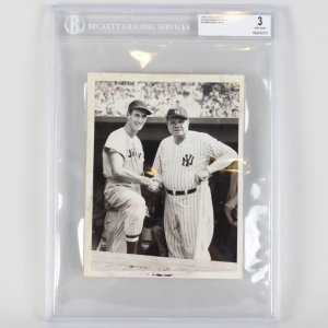 Boston Red Sox Ted Williams & New York Yankees Babe Ruth - Type 1 Press Photo (3 Very Good)