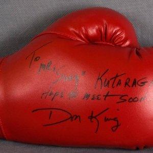 "Don King Signed Everlast Boxing Glove ""To Mr. Sony Kutaragi Hope to Meet Soon"""