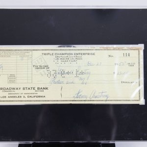 Henry Armstrong Signed Check