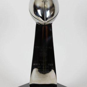 Super Bowl XXIV Replica Trophy Signed Joe Montana - San Francisco 49ers vs. Denver Broncos-