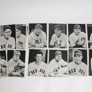 1940 Boston Red Sox Team Portrait Photos Lot of 25 in Picture Pack with Original Envelope feat. Ted Williams, Joe Cronin, Jimmie Foxx et al.
