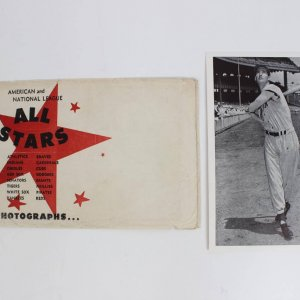"1957 American & National League All-Star Photo Pack - Boston Red Sox Ted Williams 6""x 8.5"" Photo (w/Envelope)"