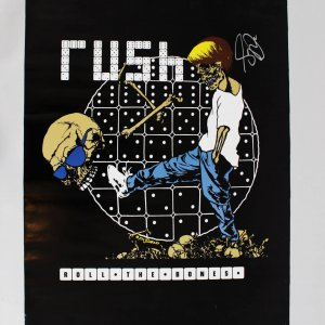 Geddy Lee Signed Rush Roll the Bones 22x35 Poster
