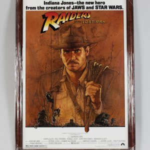 Harrison Ford Signed 28x40 Raiders of the Lost Ark Movie Poster