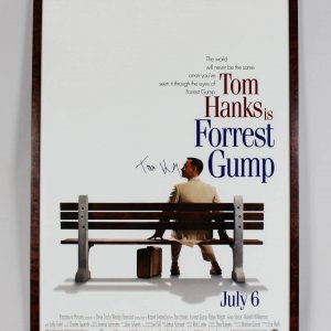 Tom Hanks Signed 28x40 Forrest Gump Movie Poster