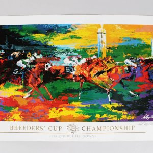 1998 Churchhill Downs Breeders' Cup Championship Signed Leroy Neiman Poster