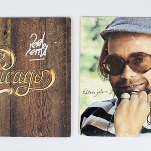 Elton John Signed Rock of the Westies Album & Peter Cetera Signed Chicago Album
