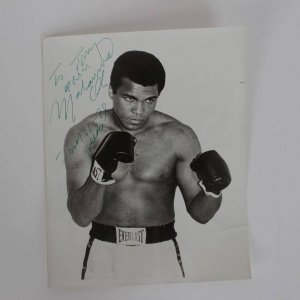 """""""To Tony From Muhammad Ali Jan 11- 78"""" Peace Signed Vintage Signature 8x10 Photo From Ring Magazine Writers Collection"""