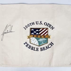 Tiger Woods Signed 100th U.S. Open Pebble Beach Flag