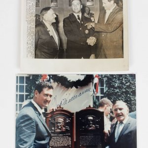 Boston Red Sox Ted Williams Signed 8x10 Photo with Additional Wire Photo