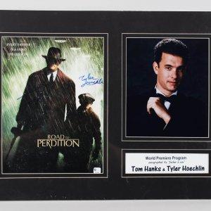 "Tom Hanks & Tyler Hoechlin Signed 9x12 ""Road to Perdition"" Movie Promo Photo"