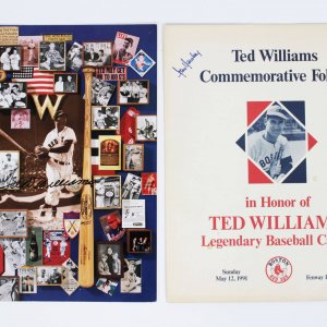 Boston Red Sox Ted Williams & Owner Tom Yawkey Signed Ted Williams Commemorative Folders