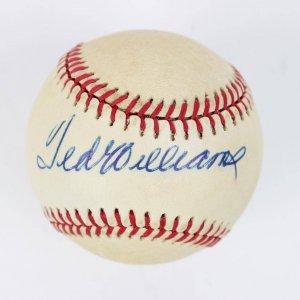 Ted williams signed baseball 8
