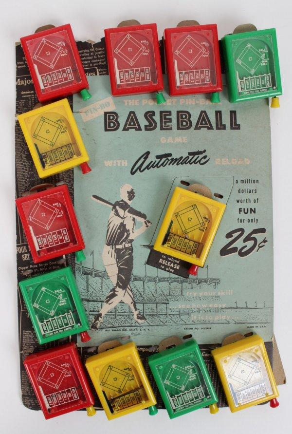 """1951 PIN-BO """" The Pocket Pin-Ball Baseball Game"""""""