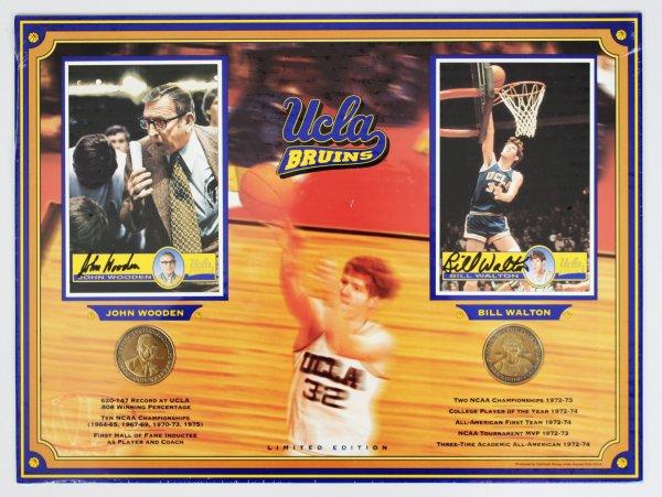 UCLA Bruins John Wooden & Bill Walton Signed 12x16 Display
