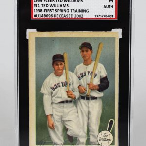 """1959 Fleer Boston Red Sox Ted Williams Signed """"1938-First Spring Training"""" Card"""