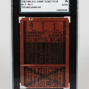 7/8/1941 All-Star Game Ticket Stub Ted Williams HR