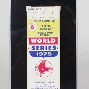10/21/1975 World Series Boston Red Sox Luis Tiant Signed Game 6 Ticket Stub