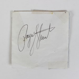Payne Stewart Signed Cut