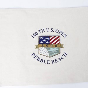 2000 100TH U.S. Open Pebble Beach Canvas Pin Flag - (Third Tiger Woods Major Victory)