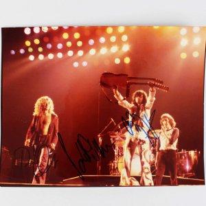 Led Zeppelin - Jimmy Paige, Robert Plant & Paul Jones Signed 8x10 Concert Photo (JSA Full LOA)
