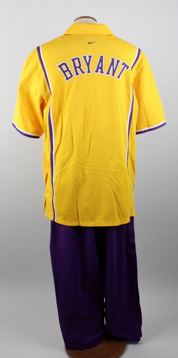 98-99 Los Angeles Lakers Kobe Bryant Game-Worn Warm Up Shirt & Pants