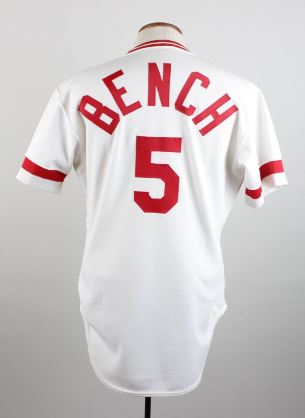 1983 Cincinnati Reds Johnny Bench Signed Game-Worn Jersey