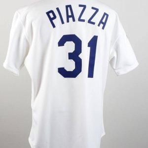 Los Angeles Dodgers Mike Piazza Game-Worn Rookie Jersey
