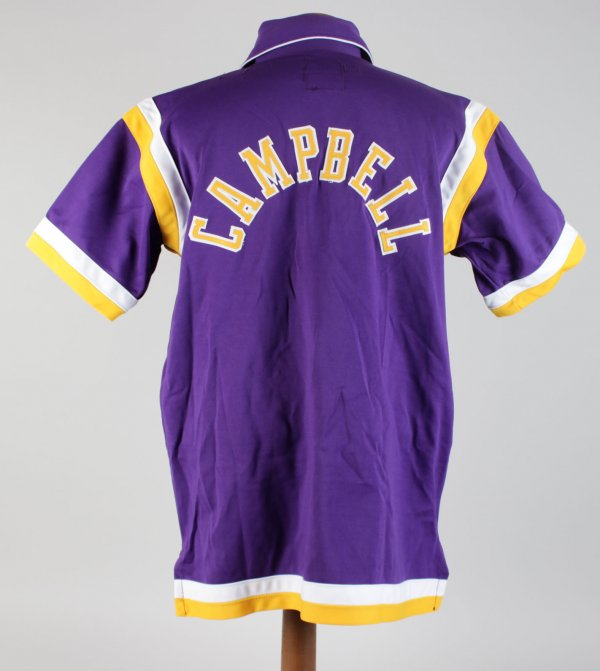 Los Angeles Lakers Elden Campbell Game-Worn Warm-Up Jacket