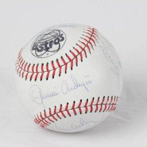 1980 Houston Astros NL West Champions Team-Signed Baseball Incl. Cesar Cedeno, Joe Niekro, Jose Cruz Jr.,