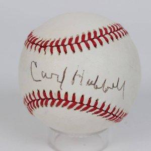 Carl Hubbell Signed ONL (Giamatti) Rawlings Baseball