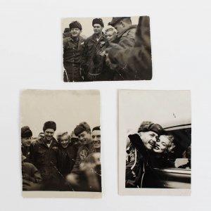 """Vintage Original Marilyn Monroe Personal Korean War Troop 2x 2 1/4"""" Photos (3)"""