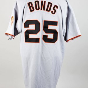 2001 San Francisco Giants Barry Bonds Game-Used Road Jersey