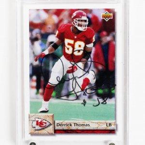 1992 Kansas City Chiefs Derrick Thomas Signed Upper Deck Card