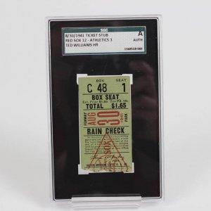 Ted Williams 8/30/1941 HR Ticket Stub (SGC) Auth