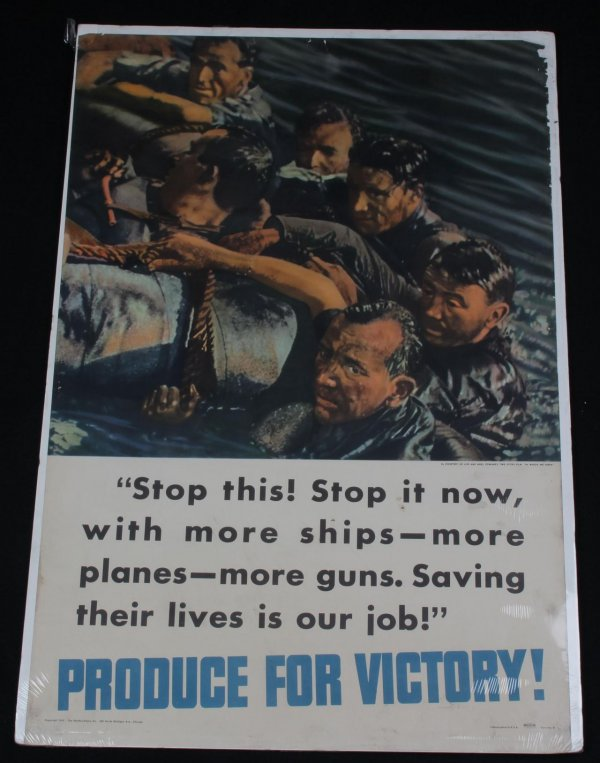 Produce For Victory Poster 36x24