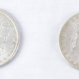 Pair 1897 & 1898 of Morgan Liberty Silver Dollars