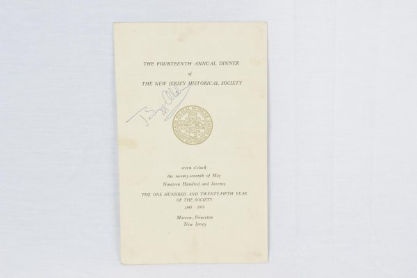 Astronaut Buzz Aldrin Signed Program From Historical Society in Princeton, New Jersey