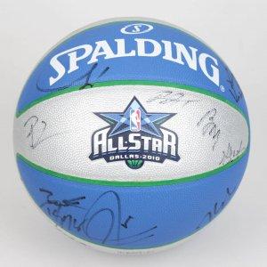 2010 NBA All-Star Team-Signed Basketball (Incl. Both East & West. 25 Sigs. Dwayne Wade, LeBron James, Chris Bosh, Derrick Rose, Kevin Durant, Kevin Garnett, Dwight Howard, Tim Duncan etc.)