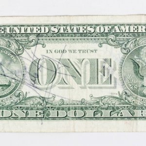 NASA Astronauts Signed $1 One Dollar Bill - Feat. Neil Armstrong (On Back) & Gordon, Pogue, Cernan, England, Overmyer & Fullerton