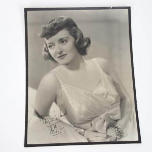 Actress - Bette Davis Signed & Inscribed (My Love To Chuck)10x13 Sepia Tone Vintage Photo