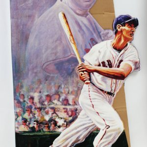Boston Red Sox Ted Williams 30x60 Floor Display From His Card Company