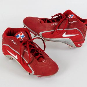 St. Louis Cardinals - Albert Pujols Game-Worn Cardinals Nike Cleats Shoes w/A. Pujols Embroidery (feat. Promo Tagging)